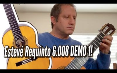 New Video! Esteve Requinto 6 008 Cedar Top   DEMO 1