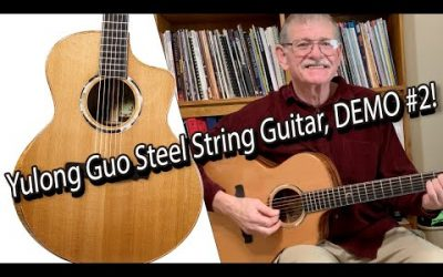 New Video! Yulong Guo Steel String Guitar, Cedar Double Top, Solid Ziricoté Back/Sides / DEMO #2