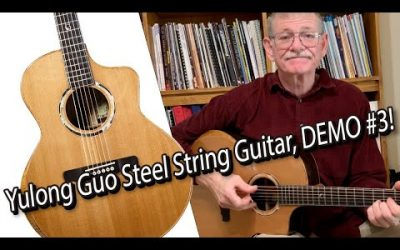 New Video! Yulong Guo Steel String Guitar, Cedar Double Top, Solid Ziricoté Back/Sides / DEMO #3