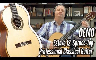 New Video! Esteve Model 12 Spruce   Bach Prelude
