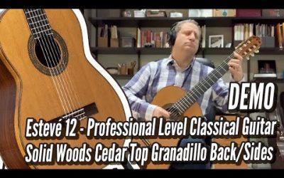 New Video! DEMO: Estevé Model 12 Cedar Bach Prelude | Calido Guitars