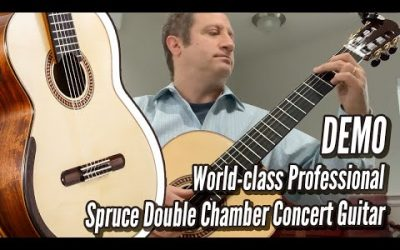 New Video! DEMO: Spruce Double Top Chamber Concert by Yulong Guo | Calido Guitars