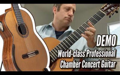 New Video! DEMO: Yulong Guo Chamber Concert Guitar, Cedar 2018 093 | Calido Guitars