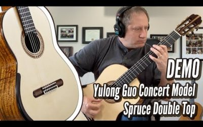 New Video! DEMO: Yulong Guo Spruce Double Top, World-class Professional model Concert guitar | Calido Guitars