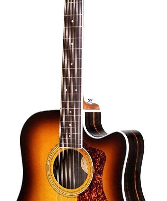 Guild Guitars D-2612CE – 12-string Acoustic Guitar, Antique Burst, Archback Deluxe, Solid Top, Dreadnought