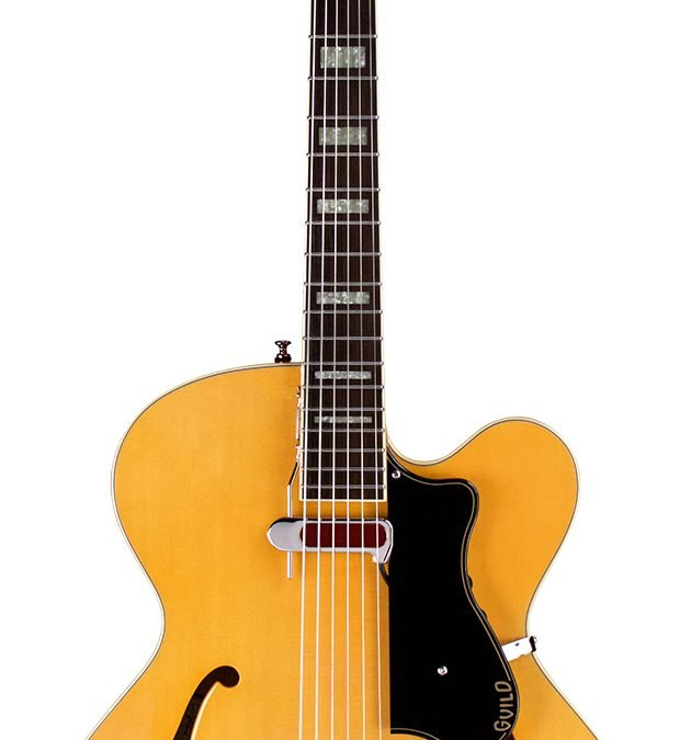 Guild A-150 Savoy – Blonde – Flame Maple – Carved Solid Arched top with Hollow Body
