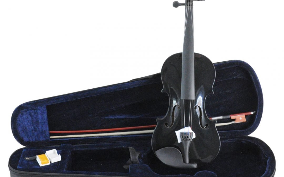 Aileen VG-001 Black – ¾ Size Student Violin – Strings upgraded to D'Addario Prelude