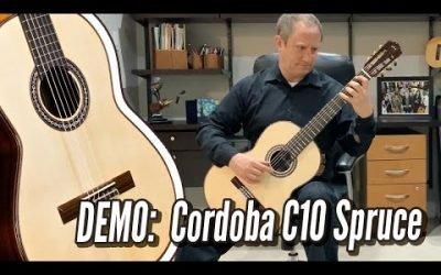 New Video! DEMO: Cordoba C10 Parlor Spruce,  Adelita by F Tarrega   CalidoGuitars.com