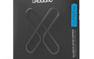 D'Addario SILVER PLATED WRAP XT DYNACORE, CARBON TREBLES Hard Tension Set – XTC46FF
